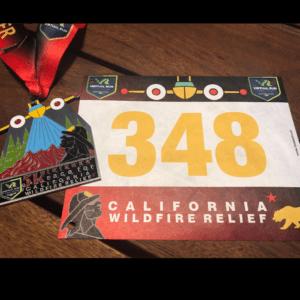 California Wildfire Charity 5k Run Virtual Race