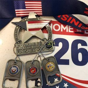 2018 Home of the Brave Virtual Run Walk Finisher Medal