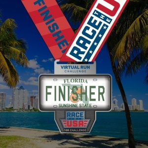 State of Florida Finisher Medal Virtual 10k