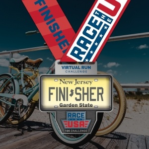 Race the USA New Jersey Virtual Running Challenge Finisher Medal