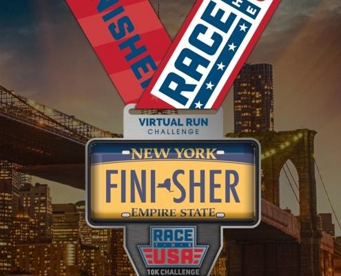 Race the USA - New York Virtual 10k Finisher Medal