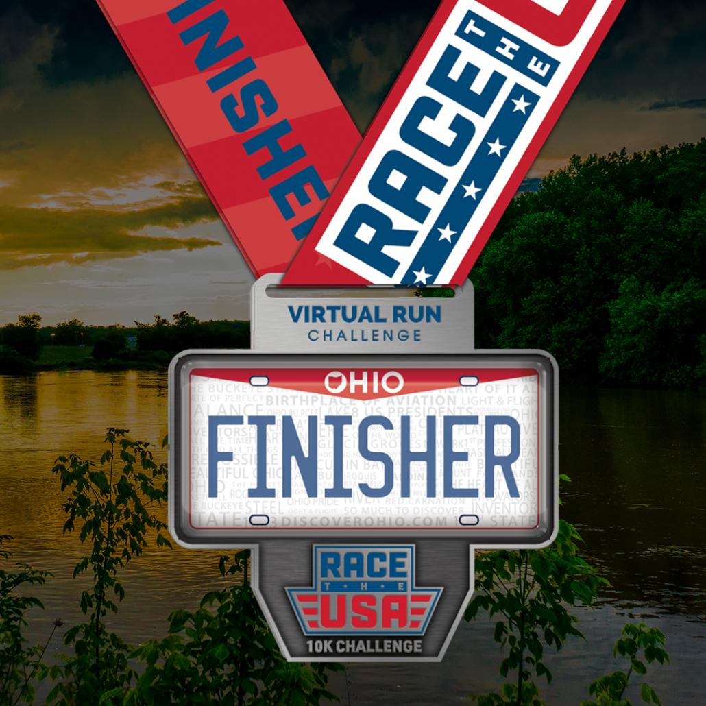 Race the USA Virtual Run 10k Challenge Ohio Finisher Medal
