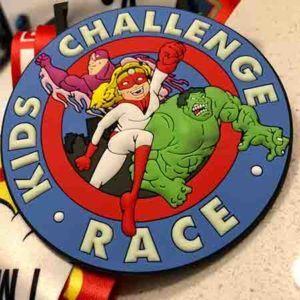 Kids Virtual Superhero Run Finisher Medal