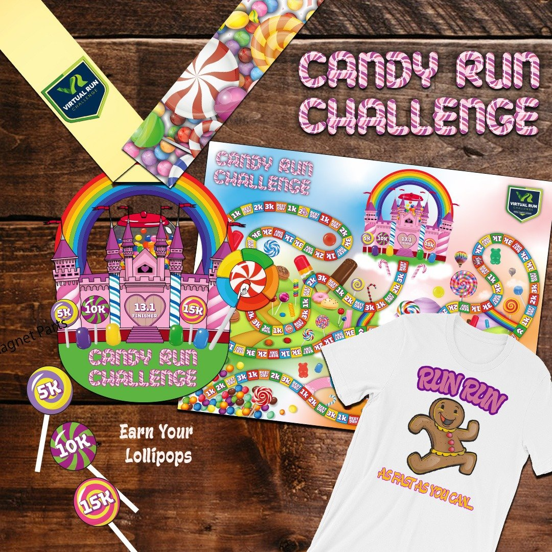 Fun Virtual 5k Candy Land Race