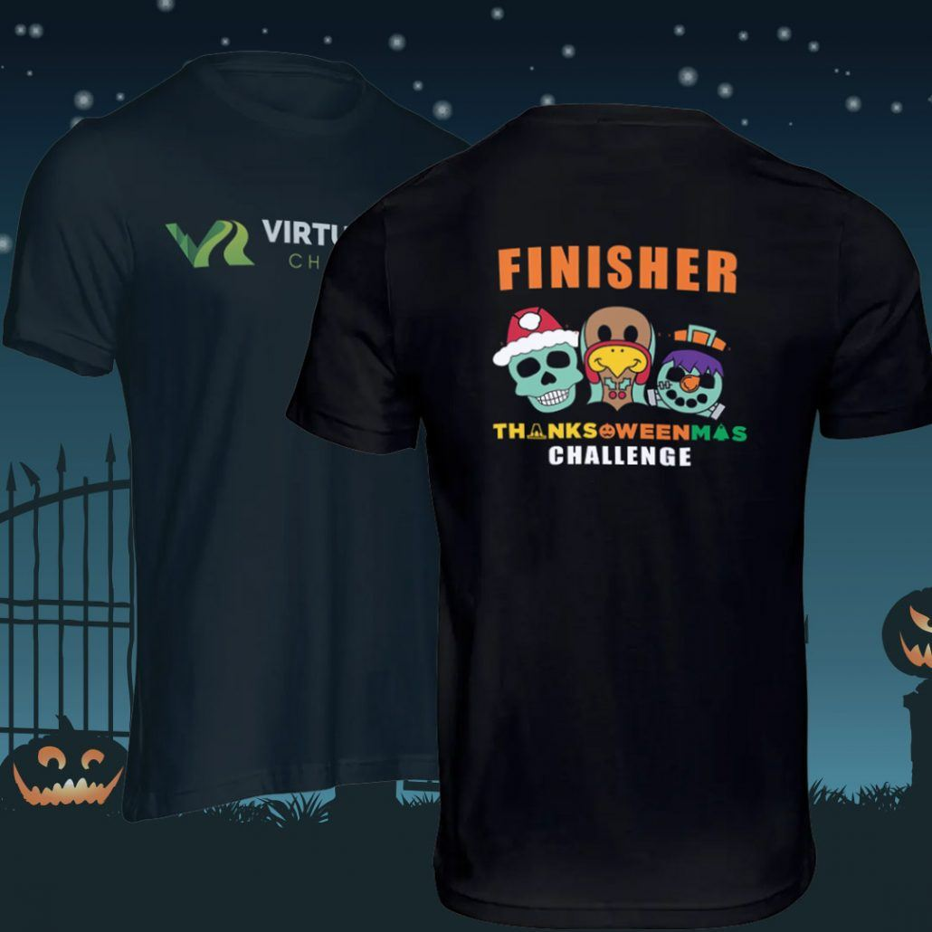 Thanks-Oween-Mas Virtual Running Challenge Finisher Shirts