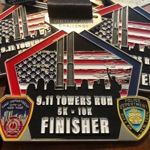 9-11 Memorial Virtual Run Walk Finisher Medal