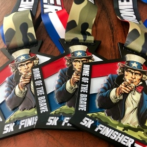 2019 Home of the Brave Virtual 5k Finisher Medal