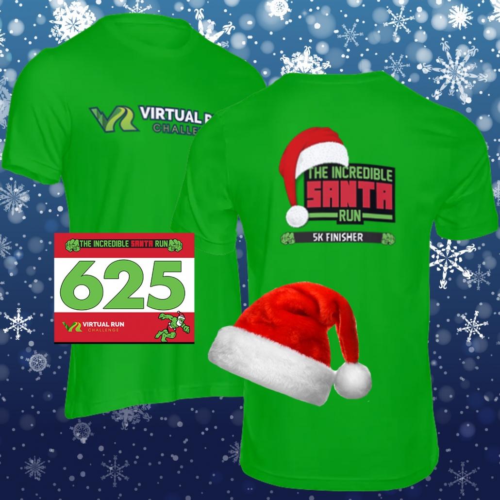 Incredible Santa Virtual Run Finisher Swag