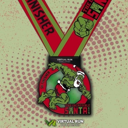 Incredible Virtual Santa Run Finisher Medal