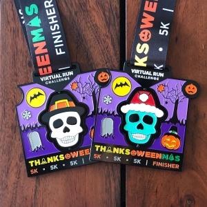 Thanks-oween-mas Halloween Finisher Medal