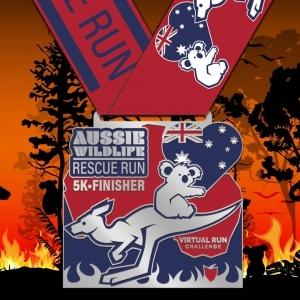 Australia Wildfires Virtual Run Finisher Medal Kangaroo