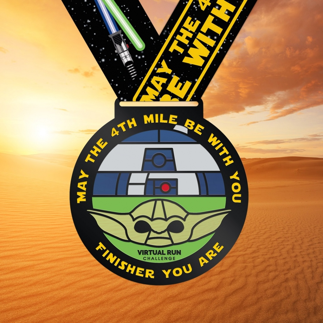 May the 4th Yoda R2D2 Finisher Medal