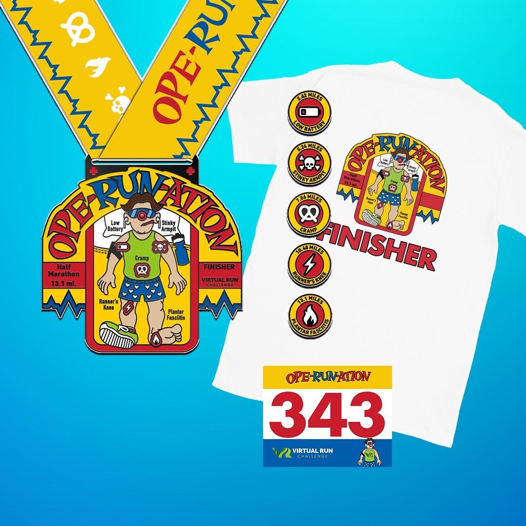 Virtual Half Marathon Finisher Medal