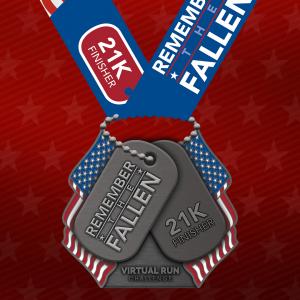 2021 Remember the Fallen 21k Finisher Medal
