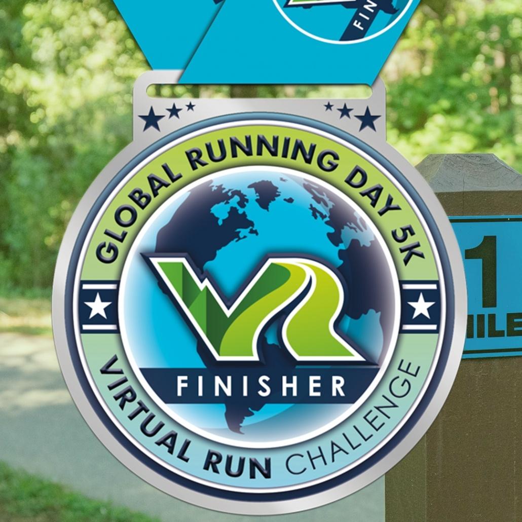 2020 Global Running Day Virtual 5k Run Finisher Medal