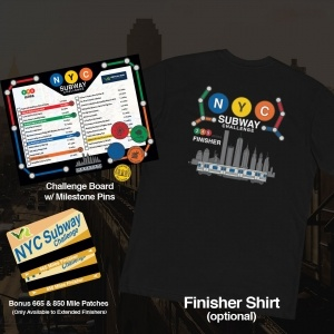 NYC Subway Virtual Running Challenge Swag