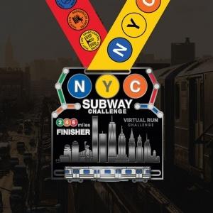 NYC Subway Virtual Run Finisher Medal