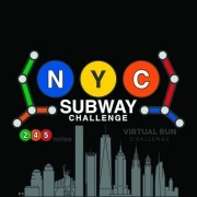 NYC SUBWAY VIRTUAL RUNNING CHALLENGE LOGO