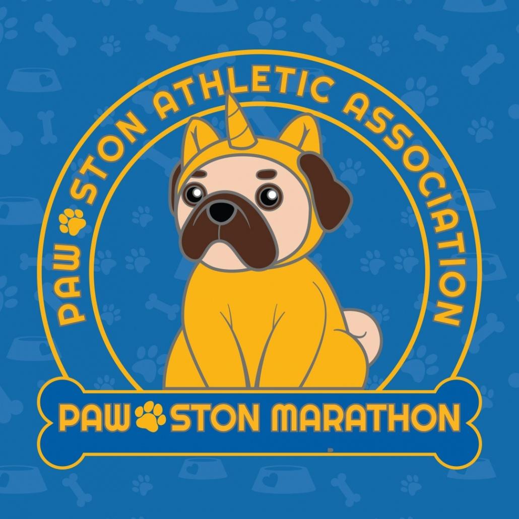 PAW-ston Marathon Virtual Run Logo
