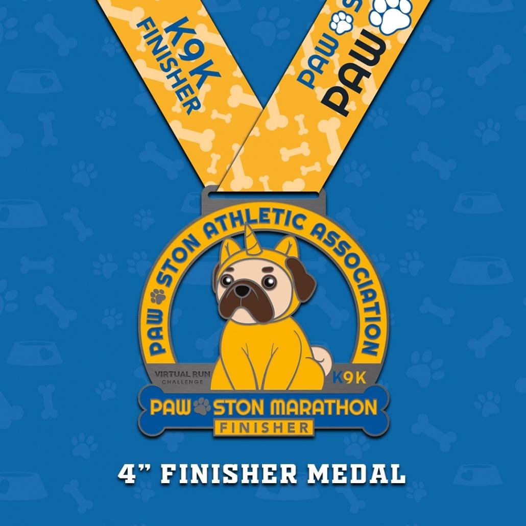 Paw-ston Marathon Virtual Run Finisher Medal