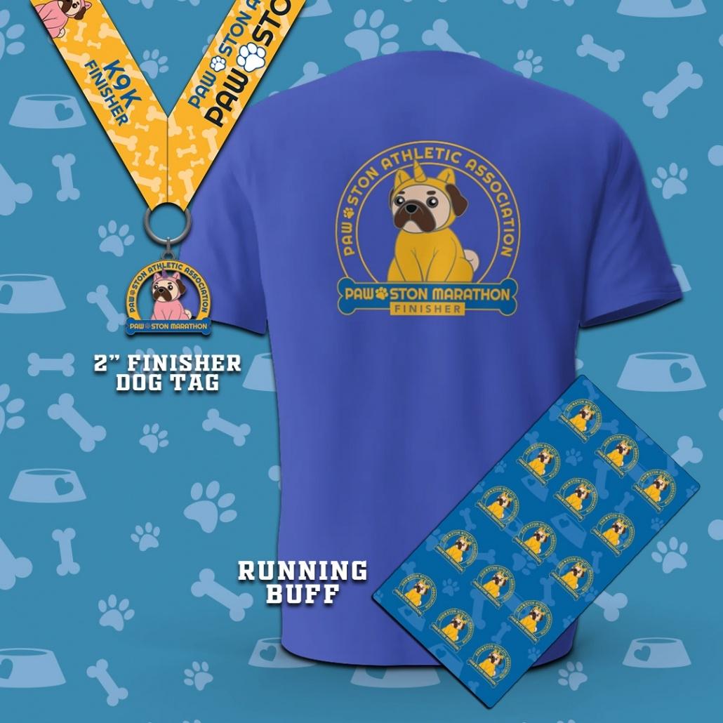 Paw-ston Marathon Virtual Run Swag