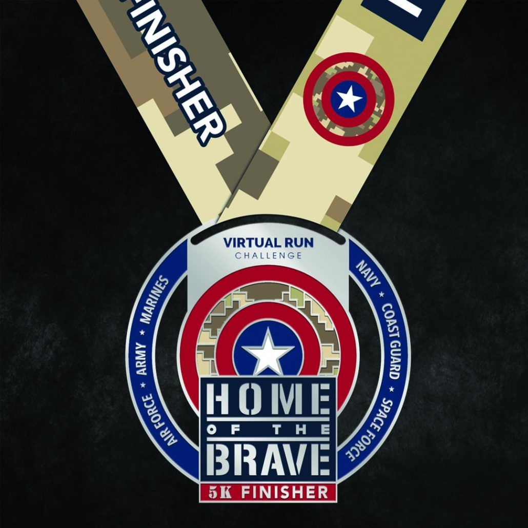 2020 Home of the Brave Finisher Medal