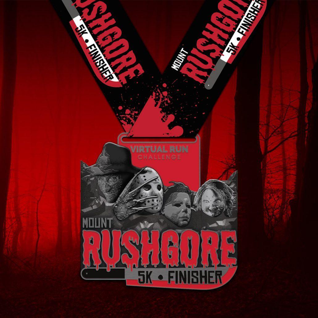 Mount RushGore Halloween Virtual 5k Run Walk Finisher Medal