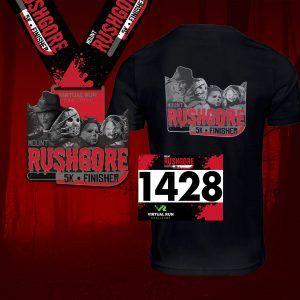 2020 Mount RushGore Halloween Virtual 5k Run Walk Finisher Medal