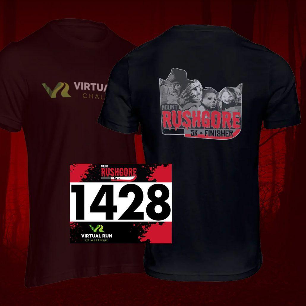 Mount RushGore Halloween Virtual 5k Run Swag