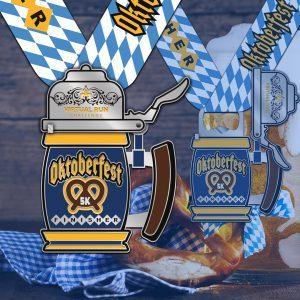 2020 Oktoberfest Virtual 5k Run Finisher Medal