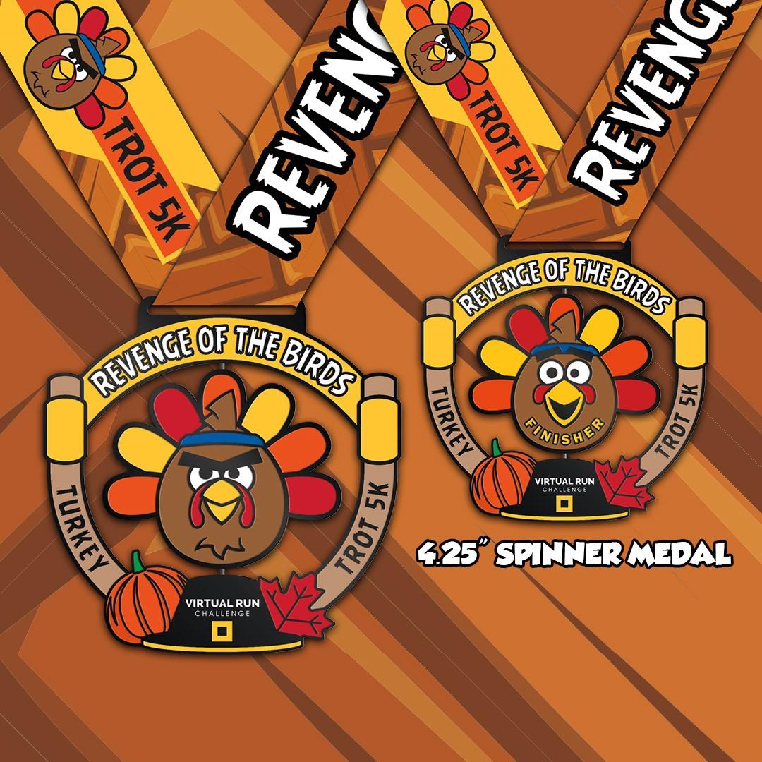 Revenge of the Birds Turkey Trot Finisher Medal