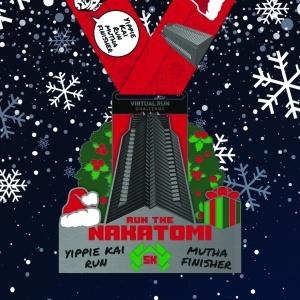 Nakatomi Plaza Christmas Run Finisher Medal