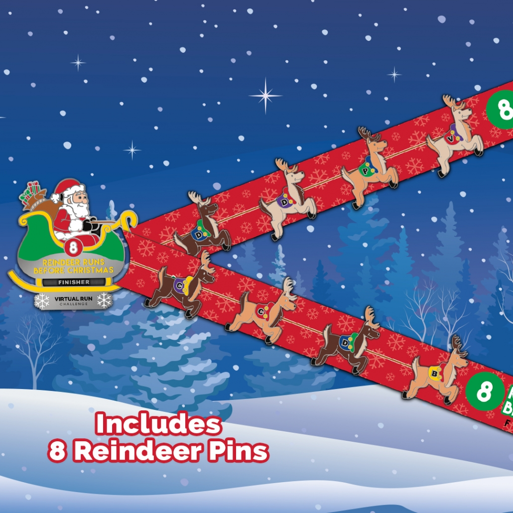 Santas 8 Reindeer Finisher Medal